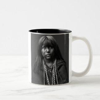 Mosa - A Mohave Woman Two-Tone Coffee Mug