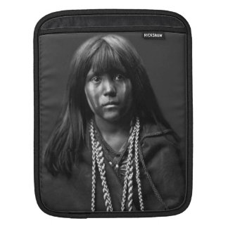 Mosa - A Mojave Woman by Edward S. Curtis Sleeve For iPads
