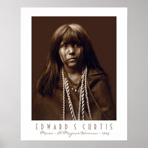 Mosa - A Native American Mojave Woman - 1903 Poster