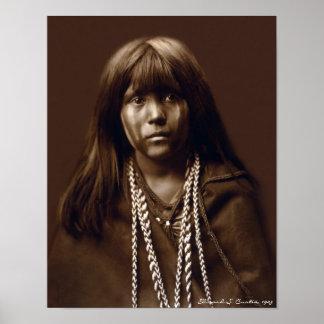 Mosa - mujer del Mojave - archivos del nativo amer Póster
