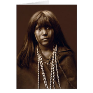 Mosa - mujer del Mojave - archivos del nativo Tarjeta De Felicitación