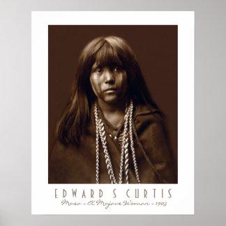 Mosa - mujer del Mojave del nativo americano - 190 Póster