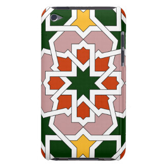 Mosaic 01 of green and red Moroccan geometry in Barely There iPod Cover