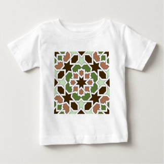 Mosaic 04 brown green arabesque landlord geometric baby T-Shirt