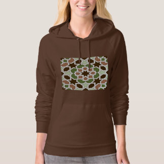 Mosaic 04 brown green arabesque landlord geometric hoodie