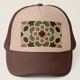 Mosaic 04 brown green arabesque landlord geometric trucker hat