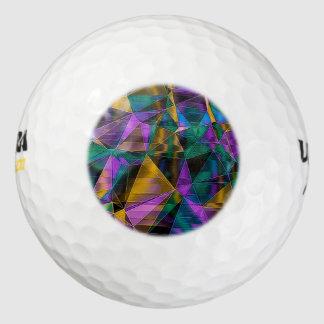Mosaic 05 aqua pack of golf balls