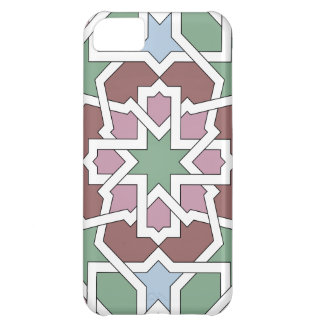 Mosaic 07 landlord of green and pink Arab geometry Cover For iPhone 5C