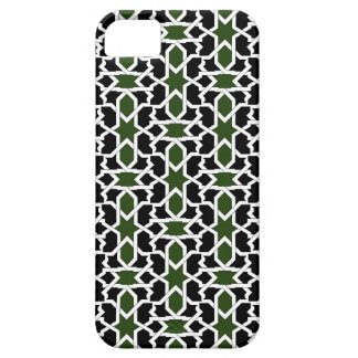 Mosaic 09 of green and black landlord of geometry iPhone SE/5/5s case