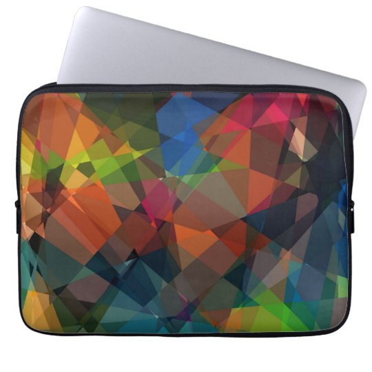 Mosaic Abstract Art | Modern Geometric Pattern 15 Laptop Sleeve