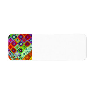 Mosaic Abstract Fine Fractal Art Label