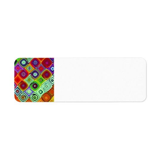 Mosaic Abstract Fine Fractal Art Label