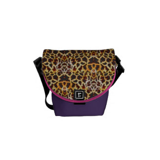 Mosaic Abstract of Giraffe Girly Animal Pattern Courier Bag