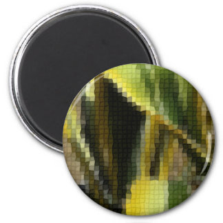 Mosaic Agave Americana - Maguey Enhanced 2 Inch Round Magnet