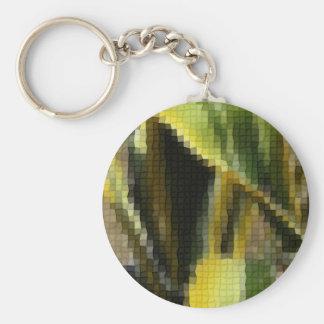 Mosaic Agave Americana - Maguey Enhanced Basic Round Button Keychain