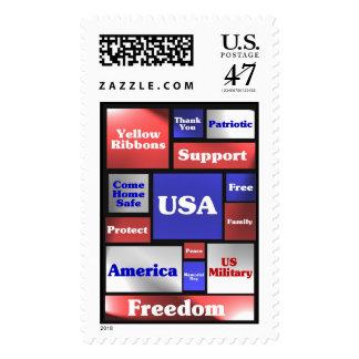 Mosaic America Stamp