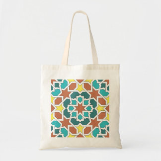 Mosaic and art of Morocco. Arabesque and geometry Tote Bag