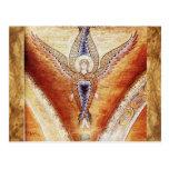 MOSAIC ANGEL , Brown Parchment Postcard