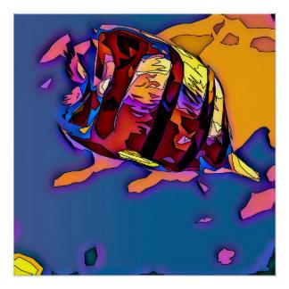 Mosaic Angel Fish Poster