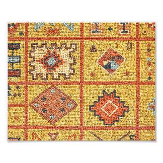 mosaic arab decoration architecture morocco islam photo print