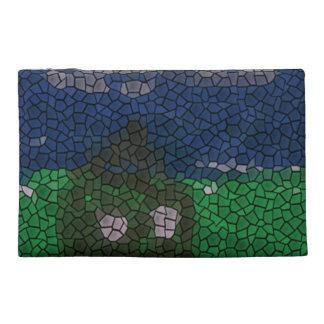 Mosaic art travel accessory bags