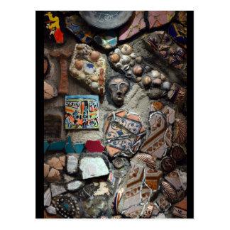 Mosaic art postcard