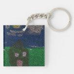 Mosaic art square acrylic key chains