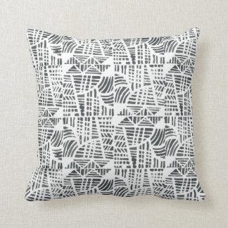 Mosaic black throw pillow