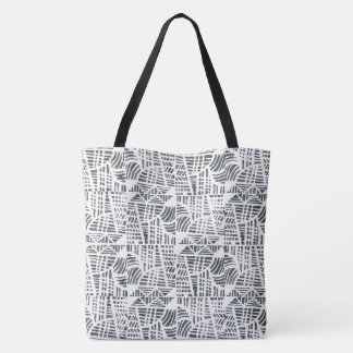 Mosaic black tote bag
