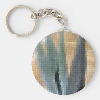 Mosaic Blue Agave 1 Glow Keychain