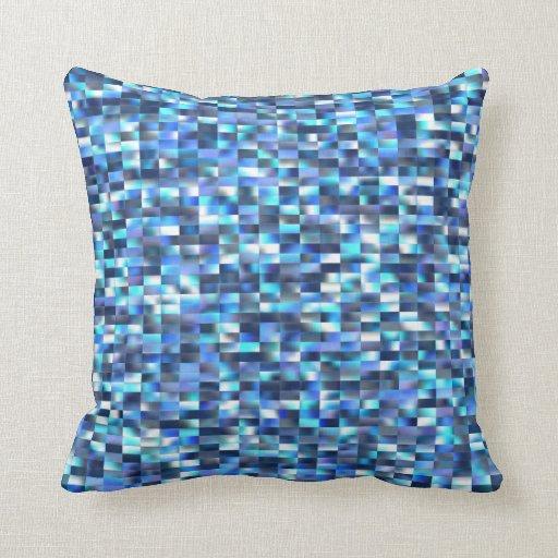 Mosaic Blue Pillow