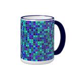 Mosaic Blue Ringer Mug
