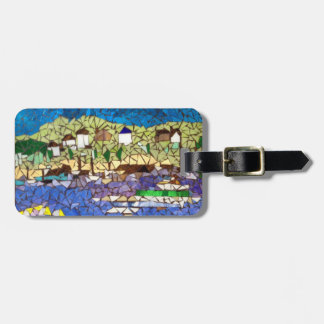 Mosaic Boats Luggage Tag by Willowcatdesigns