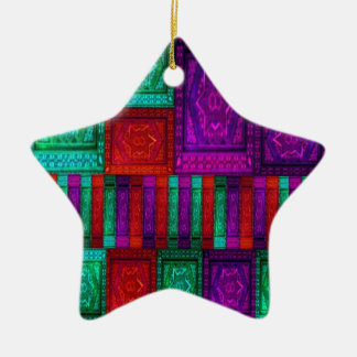 Mosaic Box Ceramic Ornament