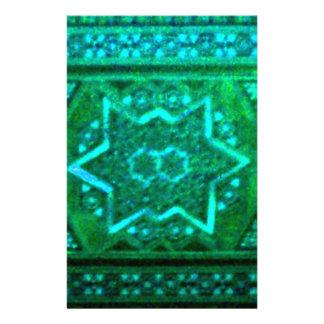 Mosaic Box Green Stationery