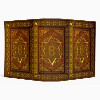 Mosaic Box in Brown 3 Ring Binder
