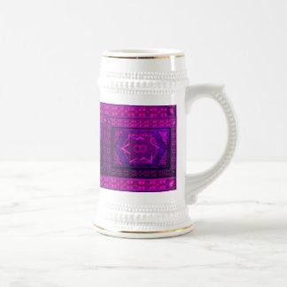 Mosaic Box in Purple 18 Oz Beer Stein