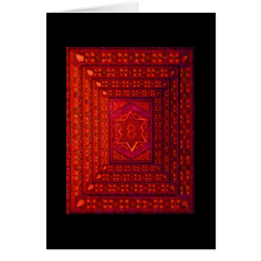 Mosaic Box in Red Greeting Card