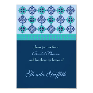 "Mosaic Bridal Shower Invitation 5"" X 7"" Invitation Card"