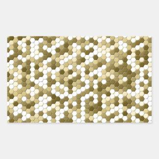 Mosaic- Brown & white dots! Rectangular Sticker