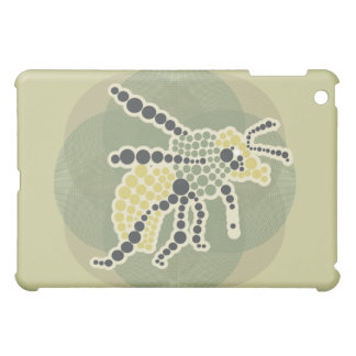 Mosaic Bug on Olive Cover For The iPad Mini