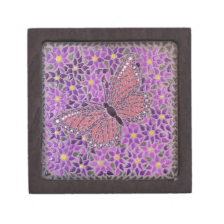 MOSAIC BUTTERFLY PREMIUM TRINKET BOXES