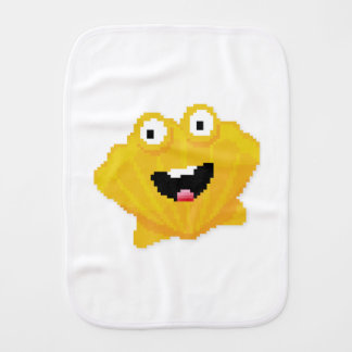 Mosaic cartoon mollusk burp cloths