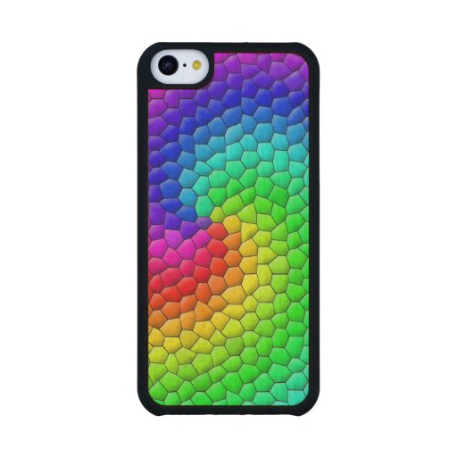 Mosaic Carved® Maple iPhone 5C Case