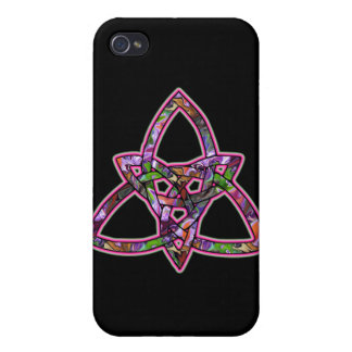 Mosaic Celtic Triquetra Trinity Knot Cover For iPhone 4