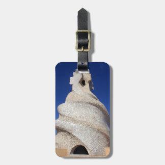 Mosaic chimney luggage tag