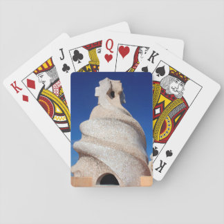 Mosaic chimney playing cards