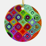 Mosaic Christmas Digital Art Christmas Tree Ornaments