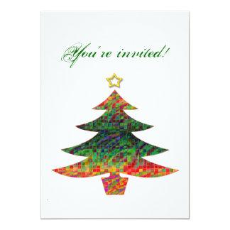 Mosaic Christmas Tree Card