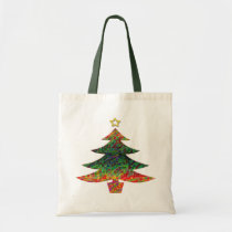 Mosaic Christmas Tree Tote Bag